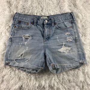 Madewell Boyfriend Rip and Repair Denim Shorts